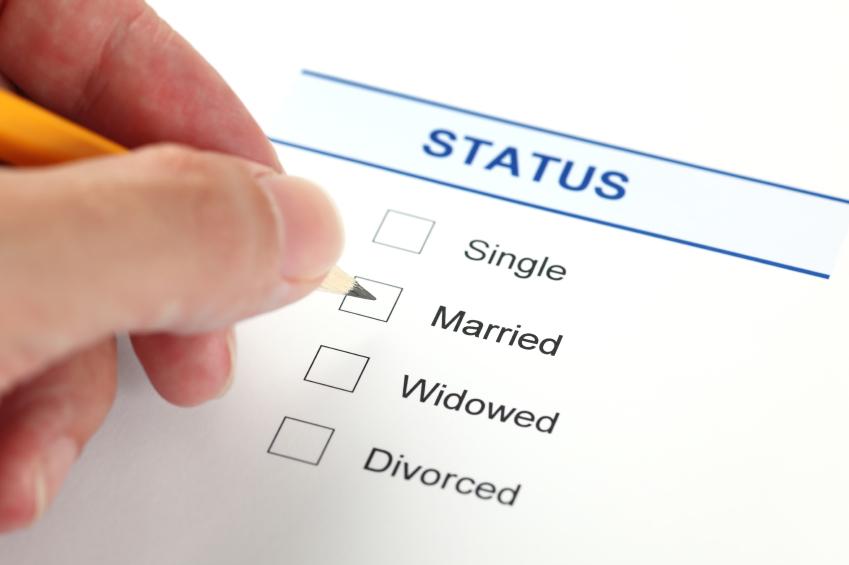 Marital status single or divorced